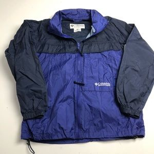 Columbia Packable Windbreaker Jacket Blue Medium